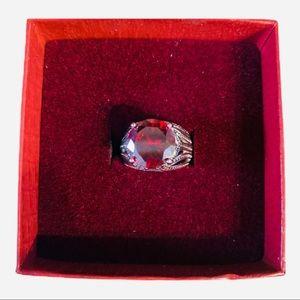Premier Designs red statement ring size 5